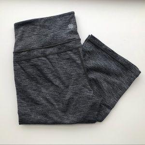 Athleta Charcoal Gray Full Length Yoga Pants Sz M